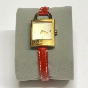 Gold Padlock Leather Watch
